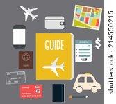 travel vector flat background | Shutterstock .eps vector #214550215