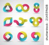 modern shape set. vector... | Shutterstock .eps vector #214559608