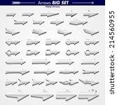original arrow designs 3d metal  | Shutterstock .eps vector #214560955