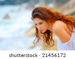 beautiful young woman with deep ... | Shutterstock . vector #21456172