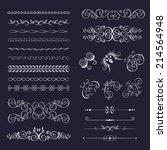 set vintage decorative frames ...   Shutterstock .eps vector #214564948