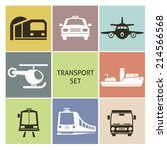 transport icons. set for you...   Shutterstock .eps vector #214566568