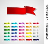 vector ribbons set | Shutterstock .eps vector #214569328