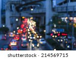 out of focus traffic and lights | Shutterstock . vector #214569715