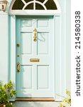 Front Door Of A Cottage With...
