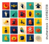 halloween symbols collection.... | Shutterstock . vector #214582558