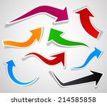 sticky collection of paper... | Shutterstock .eps vector #214585858