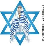vector illustration of rabbi...