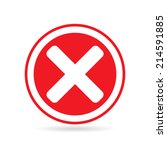 cross icon in circle   can be... | Shutterstock .eps vector #214591885