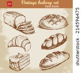 vintage hand drawn sketch style ... | Shutterstock .eps vector #214596475