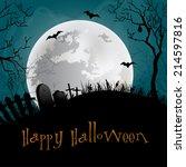 halloween party background.   Shutterstock .eps vector #214597816