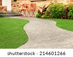 walk way with perfect grass... | Shutterstock . vector #214601266