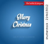 vector 3d type blue christmas... | Shutterstock .eps vector #214615012