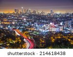 los angeles  california  usa... | Shutterstock . vector #214618438