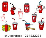 cartoon cola and soda cans ...