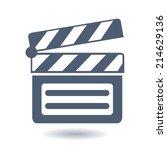 film maker clapper board  icon. ... | Shutterstock .eps vector #214629136