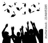 high school graduation hats... | Shutterstock . vector #214645285
