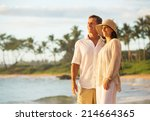 mature retired couple enjoying... | Shutterstock . vector #214664365
