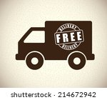 delivery design over beige... | Shutterstock .eps vector #214672942