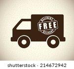 delivery design over beige... | Shutterstock .eps vector #214672942