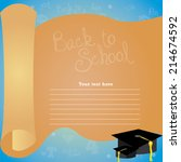 abstract back to school... | Shutterstock .eps vector #214674592