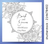 wedding invitation cards with... | Shutterstock .eps vector #214678402
