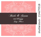 wedding invitation cards with... | Shutterstock .eps vector #214679518