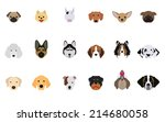 set of dogs vectors and icons... | Shutterstock .eps vector #214680058