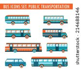 bus icons set. public... | Shutterstock .eps vector #214688146