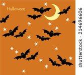 seamless pattern of halloween... | Shutterstock .eps vector #214696606
