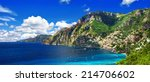 scenery amalfi coast of italy   ... | Shutterstock . vector #214706602