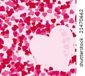 vector heart background | Shutterstock .eps vector #21470662