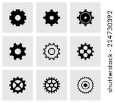 vector black gear icons set on... | Shutterstock .eps vector #214730392