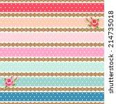 Set Of Colorful Fabric Polka...