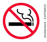 no smoking sign | Shutterstock .eps vector #214746412