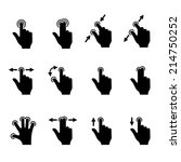 gesture icons set for mobile... | Shutterstock .eps vector #214750252