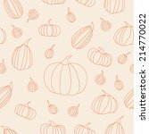 autumn pumpkins seamless... | Shutterstock .eps vector #214770022