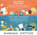 set of flat style designs.... | Shutterstock .eps vector #214771132