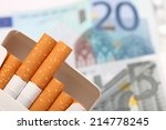 Cost Of Cigarettes. Close Up.