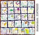 english rainbow alphabet with... | Shutterstock .eps vector #214781035