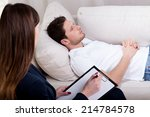 young therapist working with... | Shutterstock . vector #214784578