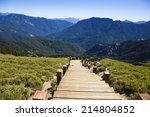 wood stairs in the hehuanshan... | Shutterstock . vector #214804852