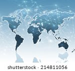 best internet concept of global ... | Shutterstock . vector #214811056