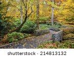Fall Trail At Botanical Garden...