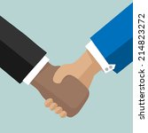 businessman handshake.vector... | Shutterstock .eps vector #214823272