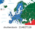 europe road map | Shutterstock .eps vector #214827118