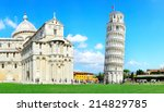leaning pisa tower  italy | Shutterstock . vector #214829785