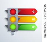vector modern traffic...   Shutterstock .eps vector #214849915
