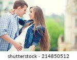 young happy couple in love | Shutterstock . vector #214850512