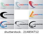 logos design. vector... | Shutterstock .eps vector #214854712